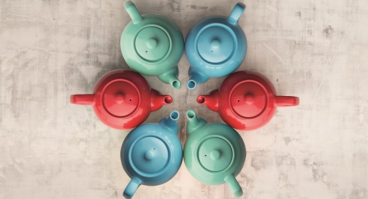 showroom Typhoon Homewares color tea pots 41 madison