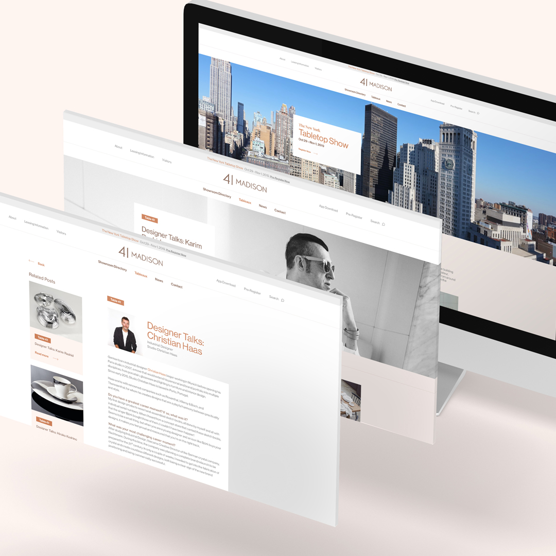 41Madison website mockup